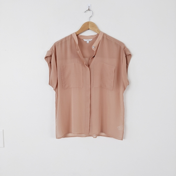 CAbi Tops - CAbi Button Down Pocket Blouse 970